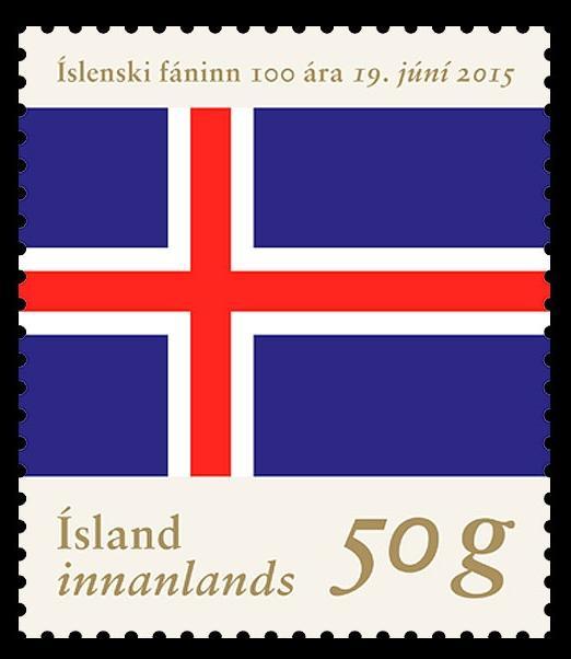 冰岛国旗邮票