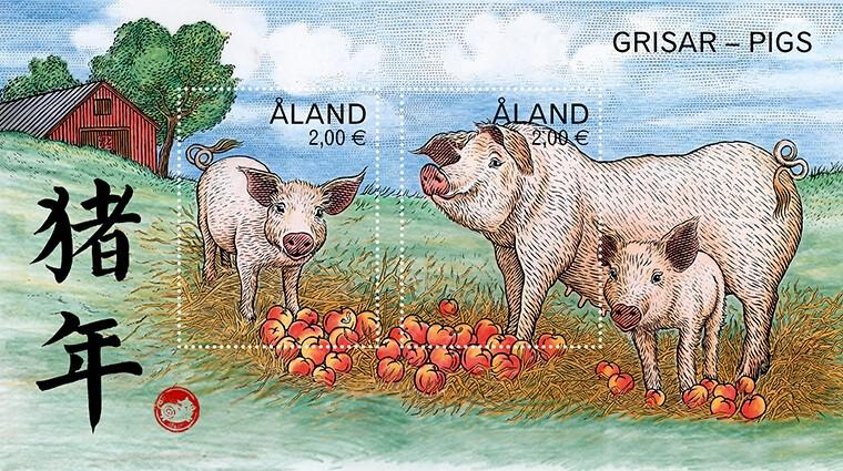 2019年猪年邮票